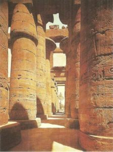 The Hypostyle Hall of the Temple of Amun. Karnak. XIX dynasty.