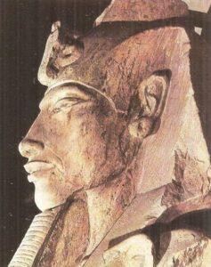 Amenhotep IV (Akhenaten). Head of a statue from the Temple of Aten in Karnak. Dynasty XVIII.
