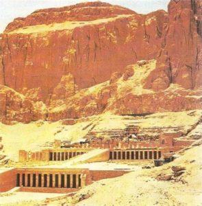 The funeral temple of Hatshepsut in Deir el-Bahri. Architect Senmut. Dynasty XVIII.