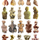 Neolithic figurines of mother goddesses from different regions of the world. 5300-4200 BC