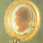 A cameo in a gold frame. Afghanistan. 2-1 century BC