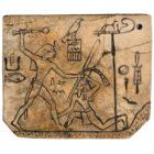 Bone tag from the strap. Pharaoh Den - I dynasty. OK. 2985 BC At the British Museum, London, UK.