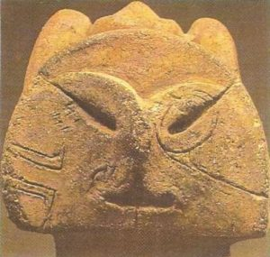 Detail of a clay figurine. III-II thousand BC.