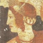 Detail of a fresco from the Etruscan necropolis in Tarquinia. IV century BC.