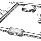 Ranneshanskoe structure of the palace-temple type (reconstruction). Erlitou.