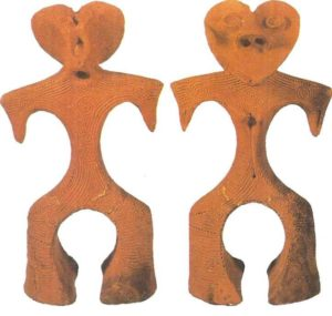 Clay figurines. The Zen period. 8-1 thousand BC Japan