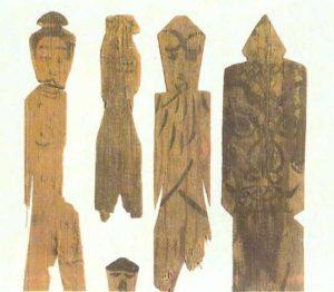 Wooden Taoist ritual figurines. Kyoto. IX century AD.