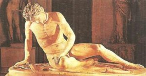 Dying Gaul (Galat). A Roman copy from the Hellenistic original of the third century BC.