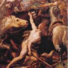 Ducarius beheads the Roman general Flaminius at the Battle of Lake Trasimene. By Joseph-Noel Sylvester, 1882, Museum of Fine Arts de Beziers, France.