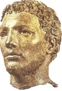 The head of an unknown man. Bronze. Early Hellenism.