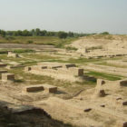 Excavations at the site of Harappa.