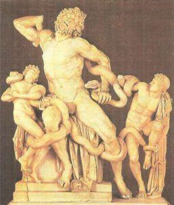 Death of Laocoon and his sons. Sculptors Agesander, Polydorus, Athenodorus. Marble. I century BC.