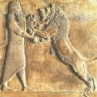 The king who kills the lion. Nineveh