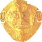 Golden funerary mask from Mycenae. XVI century BC.