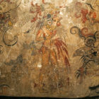 Detail of a sacred fresco from San Bartolo (Guatemala).Ca. 150 BC Painting, depicts the birth of the cosmos and proves the divine right of the ruler.