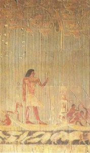 Hippopotamus hunting. Tomb of noble Ti in Saqqara. Dynasty 5.