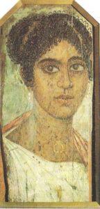 Portrait of a woman. Fayum. Wood, encaustic, tempera. Fayum. II century AD.