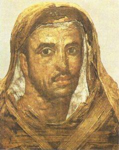 Portrait of a man. Linen, tempera. Fayum. I century AD.