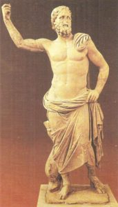 Poseidon from the island of Melos. Marble. End of the second century BC.