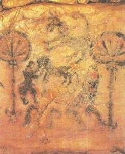 Mural painting of the tomb. V-VI centuries.