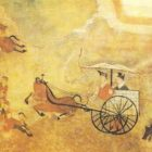 A fragment of a mural. The Han Era. China