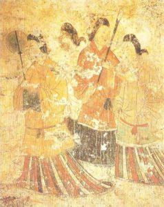 Mural of the Tokamatsu-zuka tomb. VI century AD.