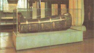 Sarcophagus of Mahu, a farmer from the House of Amun. Dynasty XVIII.