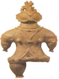 A clay figurine. End of the zen period. 2nd century BC Japan