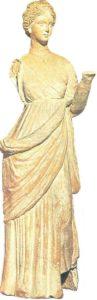 Tanagra statuette. Terracotta. III century BC.