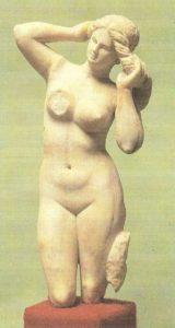 Statuette of Aphrodite Anadyomene from Cyrene. II-I centuries BC.
