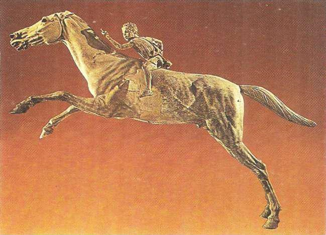 A boy on a horse. Bronze statuette from Artemisium. Mid-II century BC.