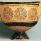 Geometric style. A ceramic vessel in Athens. XI-X centuries BC.