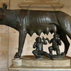 """Capitoline wolf"" (Lupa Capitolina)."